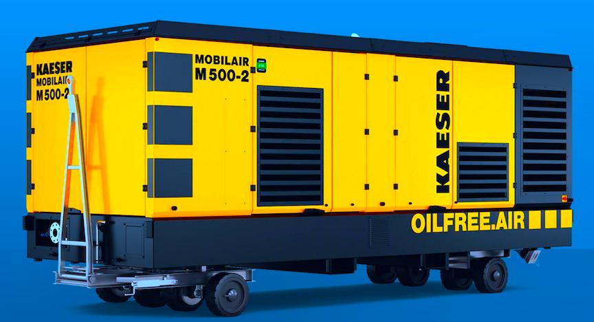 Portable, Oil-Free Screw Compressor Delivers